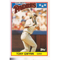 1988 Topps Mini Tony Gwynn Of Padres