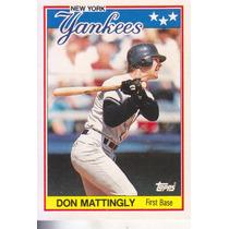 1988 Topps Mini Don Mattingly 1b Yankees