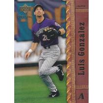2001 Upper Deck Gold Glove Luis Gonzalez Diamondbacks