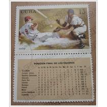 Baseball Timbre Postal - Campeonato Mundial Beisbol Cuba 69