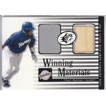2000 Spx Winning Materials Bat & Jersey Tony Gwynn Sd Padres