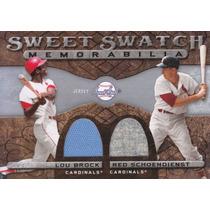 2009 Ss 2x Jersey Lou Brock Red Schoendienst Hofs Cardinals
