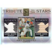 2003 Tribute 2x Jersey Bat Alex Rodriguez Ss Texas Rangers