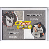 2008 Ud Heroes 2x Jersey Bob Gibson Jake Peavy /125 Pitchers