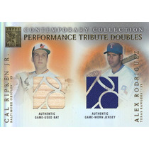 2003 Tribute 2x Jersey Bat Cal Ripken Jr Alex Rodriguez Mlb