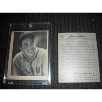 Tarjeta De Beisbol De Melo Almada De 1939 Original