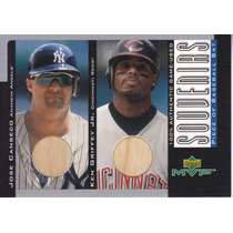 2001 Upper Deck Mvp Bats Jose Canseco Ken Griffey Jr