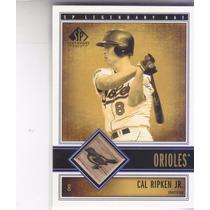 2002 Sp Legendary Cuts Game Used Bat Cal Ripken Jr Orioles