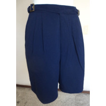 Short Azul Marino Con Pinzas Y Bolsas Talla 12 Sht335