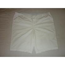 Short Marca Jcp Stretch Color Blanco Talla Extra Grande 22w