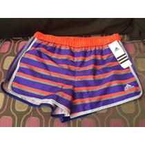 Adidas Short Dama Para Correr, Playa Talla Ch Multicolor
