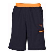 Bermuda Short Orig. Puma Usp Azul Naranja Mediana Faas Knit