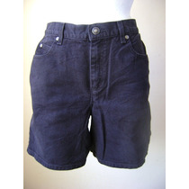 Liz Claiborne Talla-10 Short Negro Tipo Jeans!! Sht67