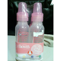 Set De 4 Biberones Dr Browns Pink Natural Flow