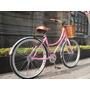 Bicicleta Retro Vintage R26 Rosa Canastilla Mimbre