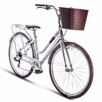 Alubike Bicicleta City Spicy Dim 700c 7vel. Gris-c/cafe T-17