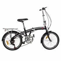 Bicicleta Plegable 3 Secciones 6 Vel Facil Almacenar 20