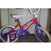 Bicicleta Niña Rod 16 C Llantitas Next Rosa C Morado Usada