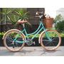 Bicicleta Retro Vintage R24 Verde Aqua Miel