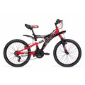 Bicicleta Infantil Mercurio Rodada 20 Dh Expert Negro/rojo