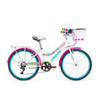 Bicicleta Mercurio Capressi Con Canasta Y 6 Velocidades