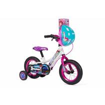 Bicicleta Infantil Mercurio Rodada 12 Cuty Bla/rosa C/casco