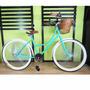 Bicicleta Retro Vintage Rodada 26 De 144 Rayos Verde Agua