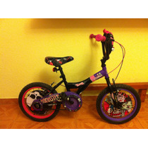 Bicicleta Monster High- Rodada 16 Como Nueva