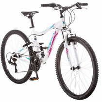 26 Mongoose Ledge 2.1 Montaña De Mujer Bike, Blanco/purpura