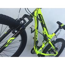 Bicicleta Montaña Huffy Full Suspension Monster Casco Gratis