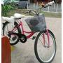Bicicleta Cruiser Rosa Canasta Y Parrilla
