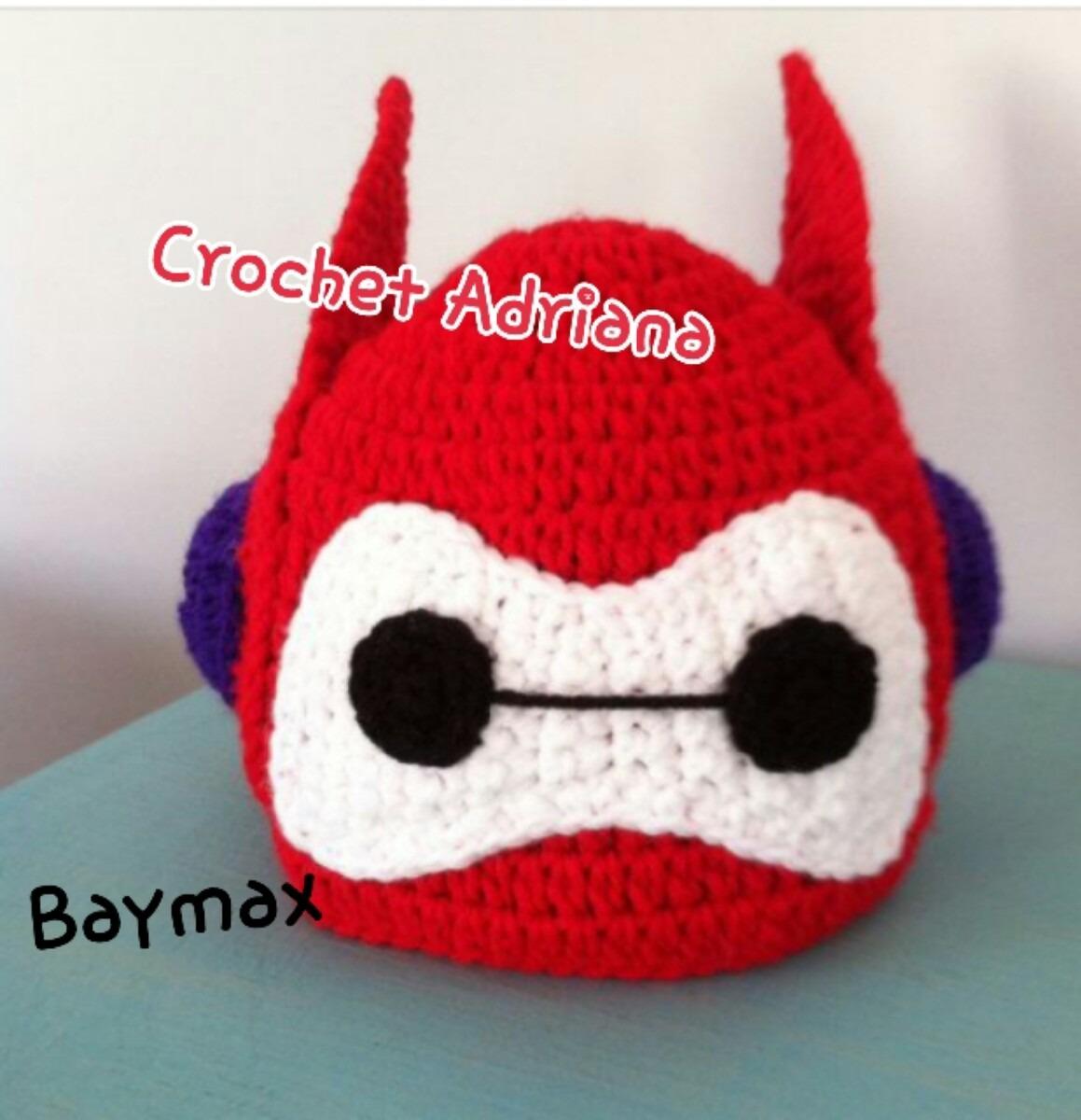 Big Hero Baymax Gorro Tejido Crochet Bebés - $ 180.00 en MercadoLibre