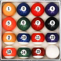 Juego / Set Bolas De Billar Pool Estilo Art Number De Lujo