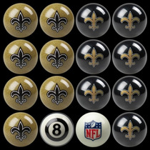 Nfl New Orleans Saints Billiards Ball Set