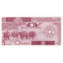 Grr-billete De Somalia 5 Shillings 1987 - Fauna