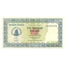 Billete Zimbabwe 5,000 Dolares (2003)
