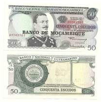 Billete Mozambique 50 Escudos (1976) Dominio Portugues Hm4