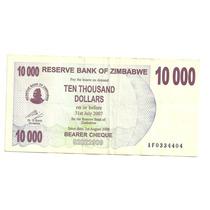 Billete Zimbabwe 10,000 Dolares (2006)