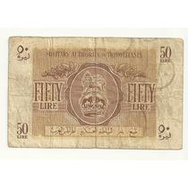 Billete Militar Libia 50 Liras (1943)