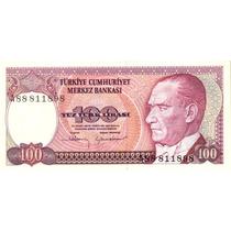 Grr-billete De Turquía 100 Liras Turcas 1970-1984