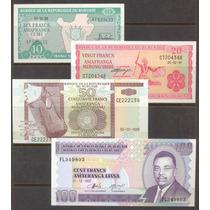 Coleccion De 4 Billetes De Burundi