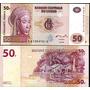 Congo 50 Francs 2007 Mascara Tshokwe Mwana Pwo Fn4