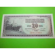 Yugoslavia Billete 20 Dinara Fecha 1978 Nuevo Crisp