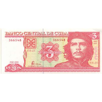 Cuba 3 Pesos 2004 Che Guevara Fn4