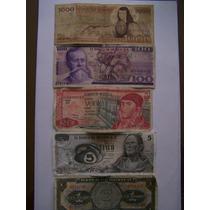 Se Venden 5 Billetes De 1000,100,20,5 Y 1 Peso