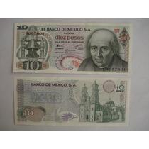 Billetes Antiguos De 10 Pesos. Miguel Hidalgo. Sin Circular.
