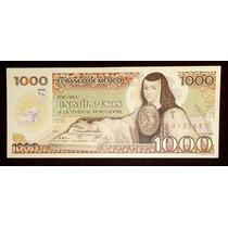 Billete 1000 Pesos Sor Juana - Tintero Sin - S.a. 1985 Crisp