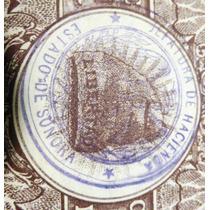 Billete De 10 Pesos Del Ejer. Constitucionalista (resello S