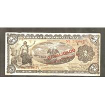 Billete De Un Peso Del Gob. Provicional