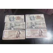 Billetes Antiguos De 500, 1000 Y 2000 Pesos Lote De 6